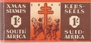 1945 South Africa 1/ Christmas Seal Booklet complete