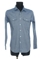 7 For All Mankind Men's Blue long sleeved Casual Shirt Size Small