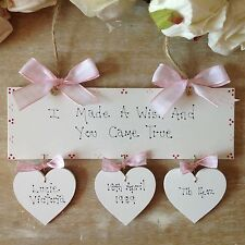 Personalised NewBorn Baby Girl  Christening Baptism Naming Day Gift Present Sign
