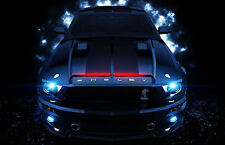 Framed Print - Ford Mustang Shelby GT500 Knight Rider Style (Picture Poster Art)