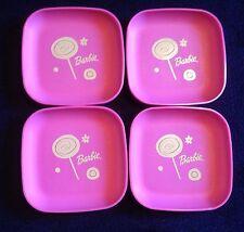 VTG Tupperware Tuppertoy MINI Plates Set Of 4 BARBIE PINK New