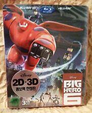 Walt Disney BIG HERO 6 Blu-Ray 3D+2D KOREA Limited Edition STEELBOOK + SLIPCOVER