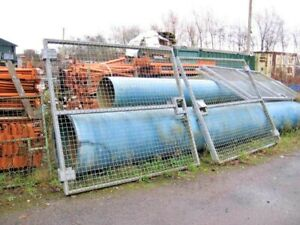 11FT WIDE X 8FT HIGH ( APPROX ) GALV STEEL PALISADE INDUSTRIAL YARD GATES
