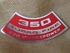 """Corvette NEW Air Cleaner Decal """"350 Turbo-Fire 330 Horsepower"""" 1971 LT1"""