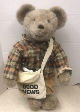 Carrousel Artist Teddy Bear Terry & Doris Michaud Newspaper Boy -RARE!