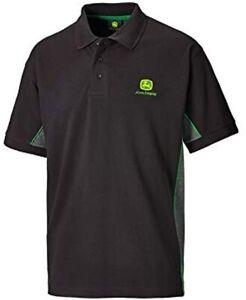 Genuine John Deere Black Polo Shirt Farm