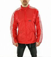 Vintage 80's Adidas Windbreaker Jacket In Red  Size Medium