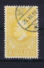 DD074 NEDERLAND 1913 Jubileumzegels 5 gulden geel NVPH 100 gebruikt