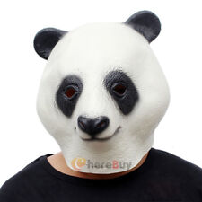 Cosplay Halloween Panda Head Mask Latex Animal ZOO Party Costume Prop Toys Novel