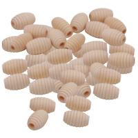 50pcs Beehive Wood Loose Beads Beading Supplies DIY Kids Toy Jewelry Making