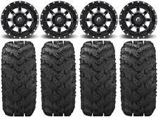 "Fuel Maverick Black 14"" Wheels 30"" Reptile Tires Polaris Rzr Xp 1000 / Pro Xp"