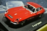 Mint Jaguar E Type Series 1 Coupe with stand by Atlas with Collectors Leaflet