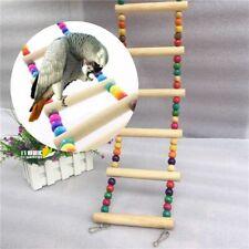 Bird Pet Ladder Swing Wooden Parrot Toys Parakeet Bridge Wooden Climb Bite Toys