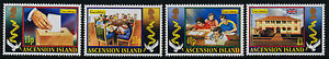 Ascension Island 834-7 MNH Christmas, Casting Ballot, Flag, Architecture