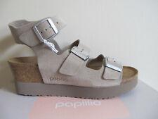 NEW Birkenstock Papillio Linnea Leather Platform Sandals Suede 7-7.5 US NIB NICE