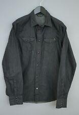 Hombre Diesel Camisa Informal Vaqueros Algodón Negro M MBA372