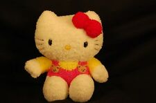"Sanrio Pink Hello Kitty Teddy Bear Outfit Toy 7"" Plush Stuffed Animal Lovey Doll"