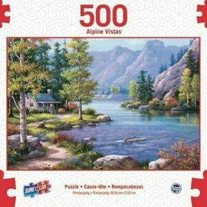 SURE LOX 500 PIECE ALPINE VISTAS LAKESIDE LODGE  48.26CM x 33.02CM