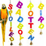Letter Bell Parrot Bird Parakeet Bite Climbing Play Hanging Toy Pet Cage Funny