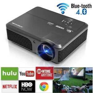 5000lumens Smart HD WiFi Android Projector Blue-tooth Home Cinema Airplay DLNA