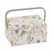 Medium Sewing Box / Basket - Twit Twoo - Owl  - Hobbygift ~ MRM506