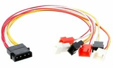 6x 3Pin Fans to D type 4Pin Molex Power Y-Splitter Cable 12v/7v/5v 22awg 30cm