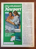 VINTAGE 1976 Original Print Ad NEWPORT CIGARETTES ~Alive with Pleasure~