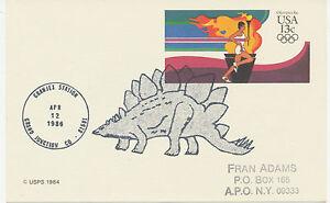 USA 13 C Olympics 84 postal stationery postcard rare Special DINOSAUR GRANJEX