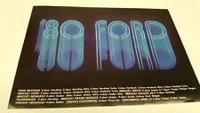 1980 FORD Mercury Lincoln JAPANESE Issued Sales Brochure VERY RARE