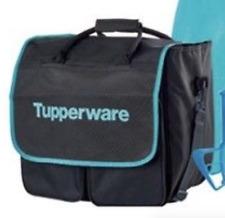 "Tupperware Large Duffle Kit Bag Award Consultant Logo Aqua Black 16""x16""x10"" New"