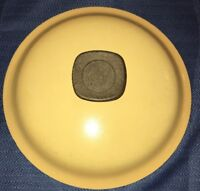 """Vintage Club Yellow Harvest Gold Aluminum Cookware Pot Replacement Lid 7 5/8"""""""