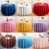 Pure Color Table Cloth Home Hotel Tablecloth Wedding Banquet Cover Square/Round