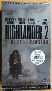 HIGHLANDER II 2 Renegade Version VHS Sean Connery