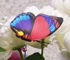 """Garden Decor Flower Pot Plant Pick Stake Colorful Butterfly NEW 12"""" tall #26"""