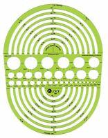 Jakar Raggio Master Metrico Modelli Stampo 189x251mm Trasparente Gree Plastica