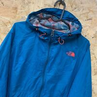 WOMEN'S THE NORTH FACE LIGHTWEIGHT BLUE ZIP HOODED COAT JACKET | SIZE LARGE L