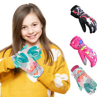 Kids Winter Gloves Touch screen Sports Bike Snow Ski Waterproof Gloves Boys Girl