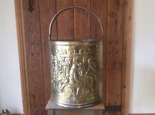 Vintage brass coal bucket / scuttle with inner bucket