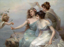 The Three Graces  by Edouard Bisson   Giclee Canvas Print Repro