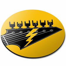 Round Mouse Mat - Rock Band Electric Guitar Music Office Gift #12984
