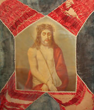 Antique European print Jesus Christ with crown of thorns