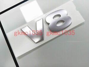 Land Rover LR2 LR3 LR4 V8 3D Lettering Badge Emblem - Brunel Matte Silver