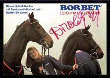 Nicole Uphoff- Becker Autogrammkarte Original Signiert Reiten +A33688