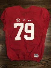 Game Worn Used 2016 Alabama Crimson Tide Bama Football Jersey Nike Size 48 #79