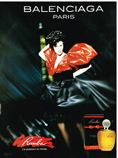 Publicité Advertising 1990 Eau de Toilette Rumba par Balenciaga