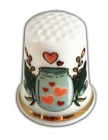 Personalised Love Potion Fine Bone China Thimble, Wedding Anniversary Engagement