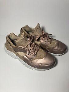 Nike Air Huarache Metallic Rose Gold AA0523-200 Women's Shoes Size 9 Sneakers