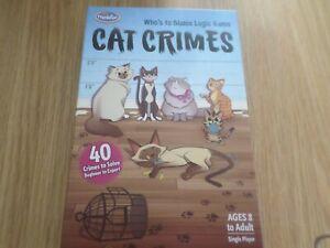 CAT CRIMES THINKFUN LOGIC GAME COMPLETE GOOD CONDITION FREE UK POST