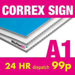 A1 Correx Sign Board Custom Advertising Weatherproof 24hr Dispatch FREE Delivery