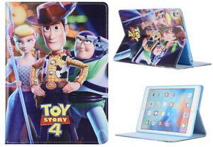 For Apple iPad Pro 9.7 iPad 9.7 iPad Air 1-2 Toy Story 4 Disney Smart Case Cover